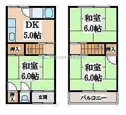 [テラスハウス] 大阪府東大阪市上石切町2丁目 の賃貸【/】の間取り