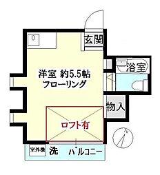 東京都文京区千石4丁目の賃貸アパートの間取り