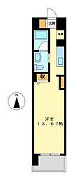 カスタリア伏見(レキシントンスクエア伏見)[3階]の間取り