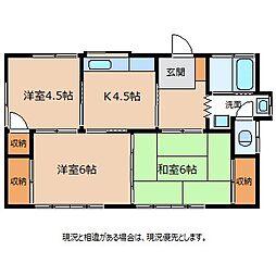 大島アパート[1階]の間取り