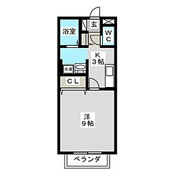 ハピネスKT[2階]の間取り