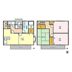 ガーデンハウスK B[1階]の間取り