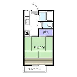 コスモハイツ田中A[2階]の間取り