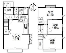 [テラスハウス] 神奈川県茅ヶ崎市本宿町 の賃貸【/】の間取り