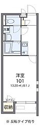 大阪府岸和田市下池田町2丁目の賃貸アパートの間取り