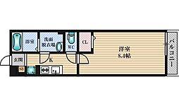 JR東西線 加島駅 徒歩6分の賃貸アパート 2階1Kの間取り