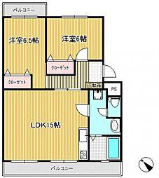 Rハイツソレイユ[4階]の間取り