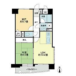 ライオンズマンション清水台第2[2階]の間取り
