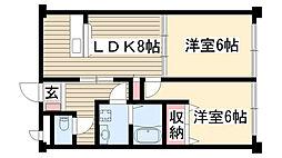 ヨシタカハイツ[2階]の間取り