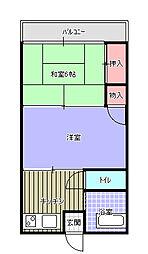 美貴荘[6号室]の間取り