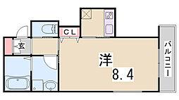 兵庫県神戸市兵庫区東出町2丁目の賃貸アパートの間取り