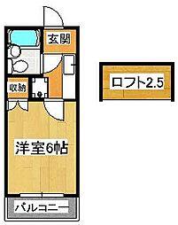TOハイツ58[202号室]の間取り