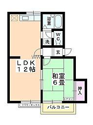 中島ハイム[203号室]の間取り