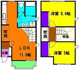 静岡県浜松市北区新都田2丁目の賃貸アパートの間取り