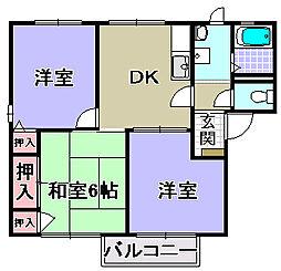ロジュマンイズミBCD棟[1階]の間取り
