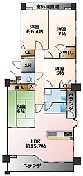(分譲)グランスイート甲子園口[7階]の間取り