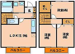 [タウンハウス] 兵庫県神戸市西区長畑町 の賃貸【/】の間取り