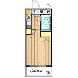 モナークマンション海老名壱番館[504号室]の間取り
