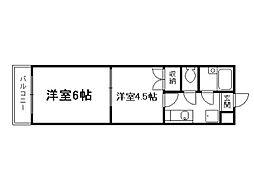 スプレール田中[1階]の間取り