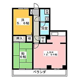 カンフォタブル[1階]の間取り