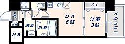 オリエンテム 8階1DKの間取り