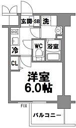 エスリード新大阪グランファースト[608号室]の間取り