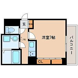 近鉄大阪線 五位堂駅 徒歩7分の賃貸アパート 3階1Kの間取り