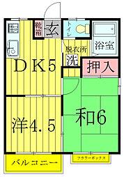 コーポ61B[2階]の間取り