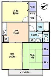 メゾンベール C[1階]の間取り