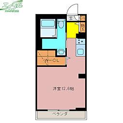 BEREO SANKOU 1階ワンルームの間取り