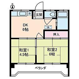 ルミエール本宿参番館[1階]の間取り
