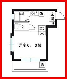 東京都北区東田端2丁目の賃貸マンションの間取り