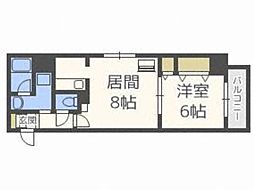 フォレスト円山[5階]の間取り
