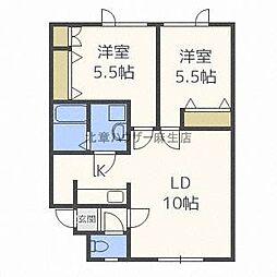 センチュリー35[2階]の間取り
