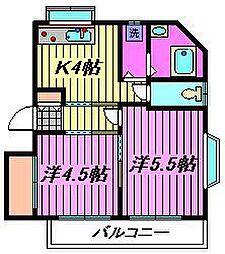 メゾンドール・KAWATA[101号室]の間取り