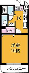 レジデンス桜井[102号室]の間取り