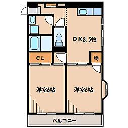 メゾン・エスポワール[1階]の間取り