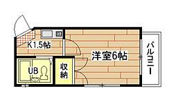 広島県広島市南区宇品御幸5丁目の賃貸マンションの間取り