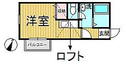 鍛冶ヶ谷壱番館[201号室]の間取り