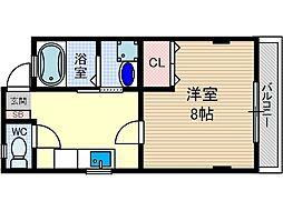 モンフルール竹橋[2階]の間取り