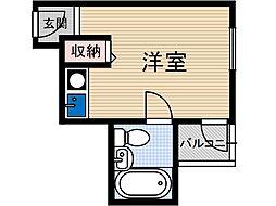 宮元町一番館[1階]の間取り