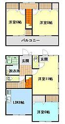 [一戸建] 広島県福山市南手城町1丁目 の賃貸【/】の間取り