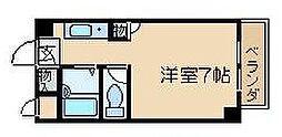 大阪府高槻市松原町の賃貸マンションの間取り