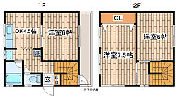 [一戸建] 兵庫県神戸市須磨区車字尾鼻469 の賃貸【/】の間取り