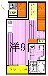 東京都足立区谷在家3の賃貸アパートの間取り