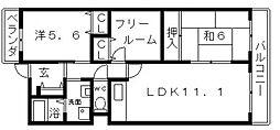 エムズコートII[4階]の間取り