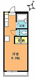 埼玉県上尾市浅間台1丁目の賃貸アパートの間取り