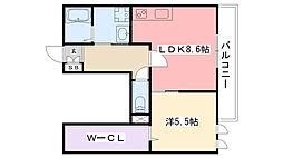 casa de oliva[3階]の間取り
