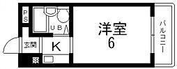 ハイツ八戸ノ里[203号室号室]の間取り