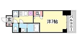 エスリード神戸三宮ラグジェ[7階]の間取り